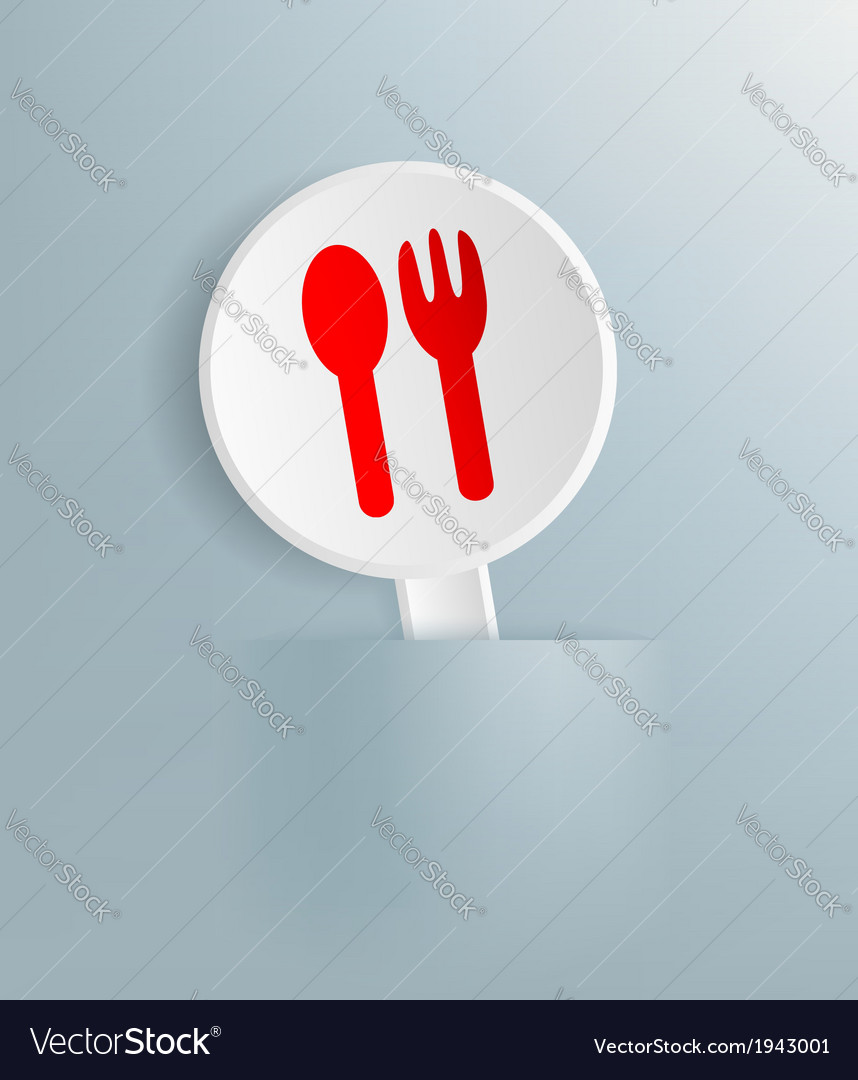 Plate with the image of spoon and fork vector | Price: 1 Credit (USD $1)