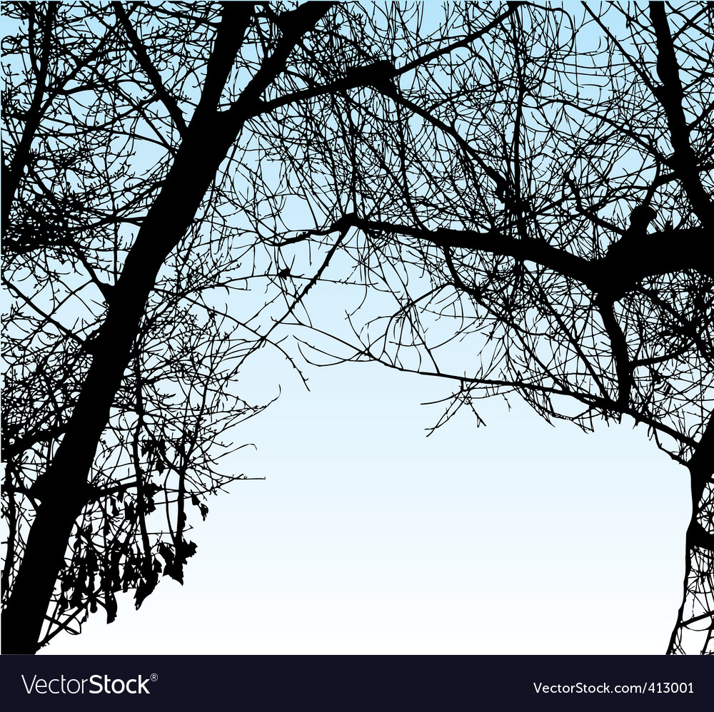 Trees silhouette vector | Price: 1 Credit (USD $1)