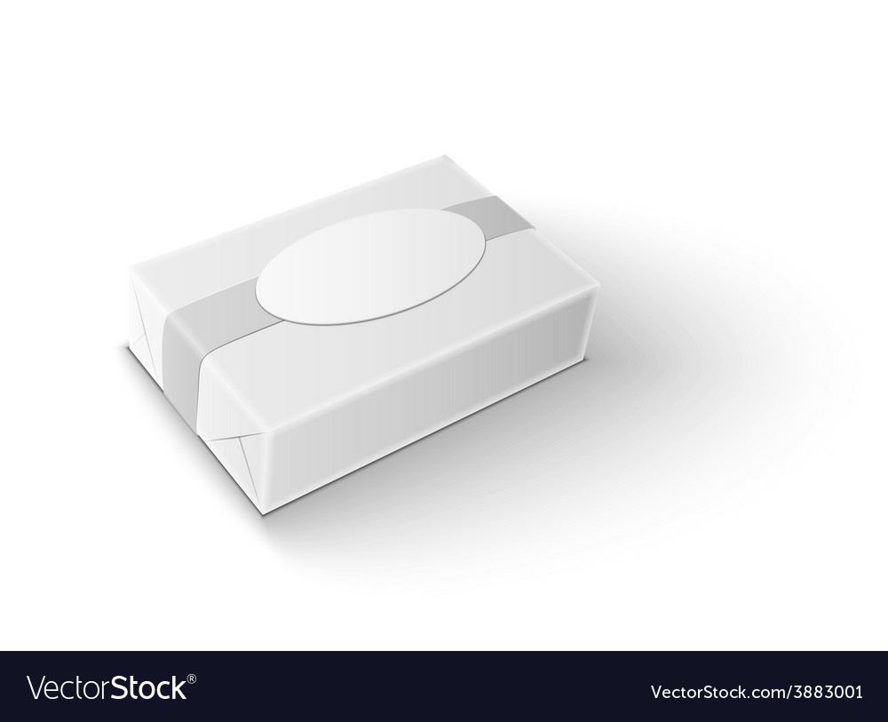 White wrap package for new design on white vector   Price: 1 Credit (USD $1)