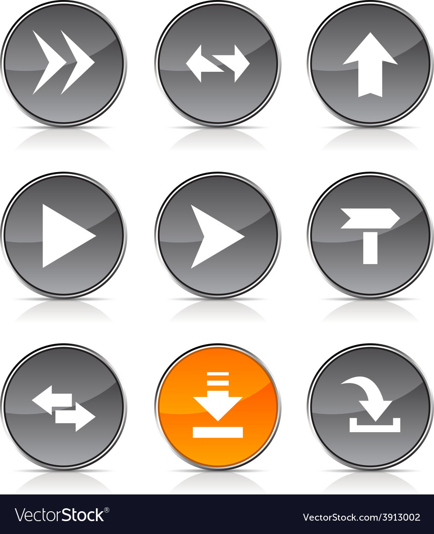 Arrows icons vector | Price: 1 Credit (USD $1)