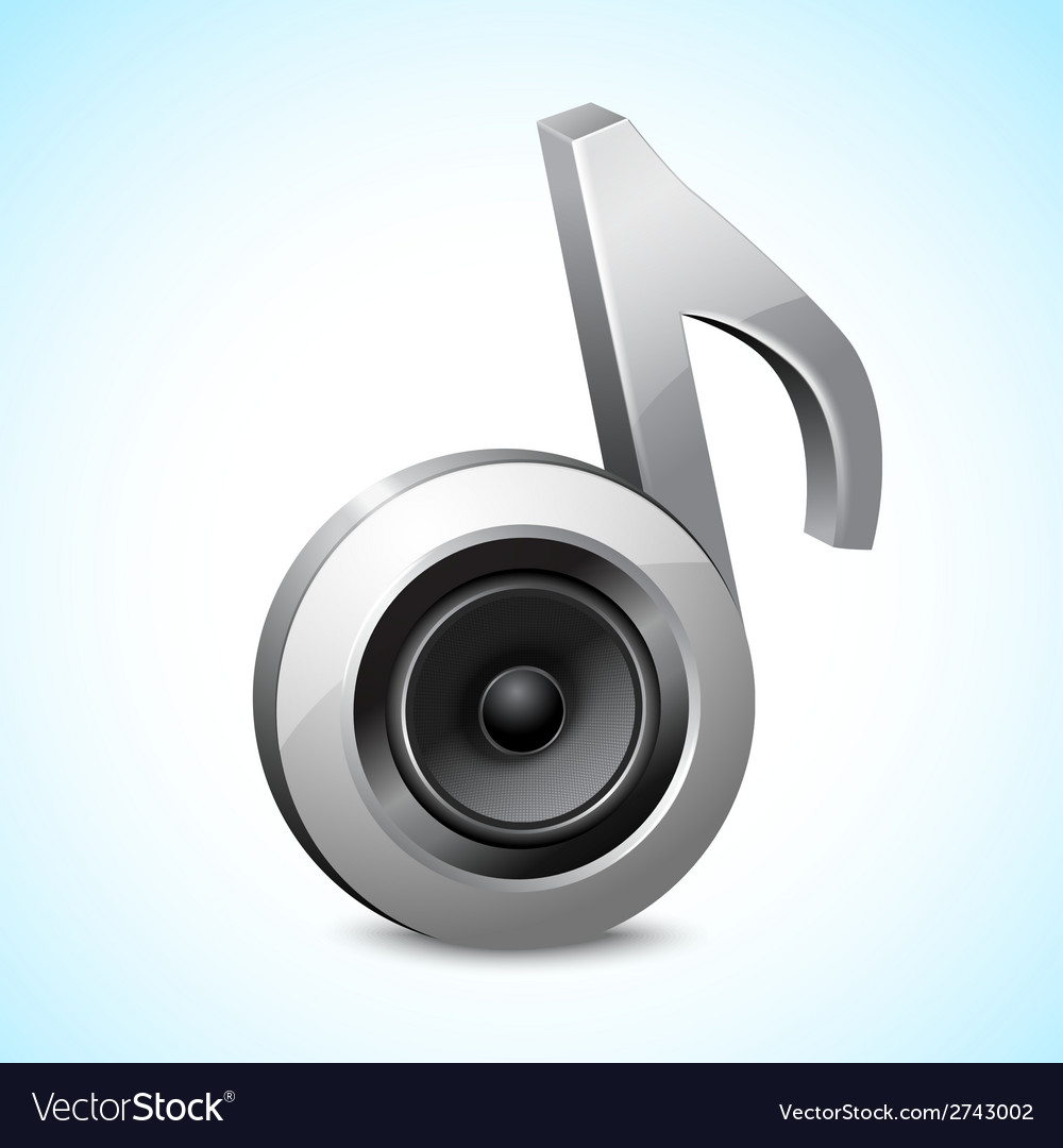 Audio speaker note vector | Price: 1 Credit (USD $1)