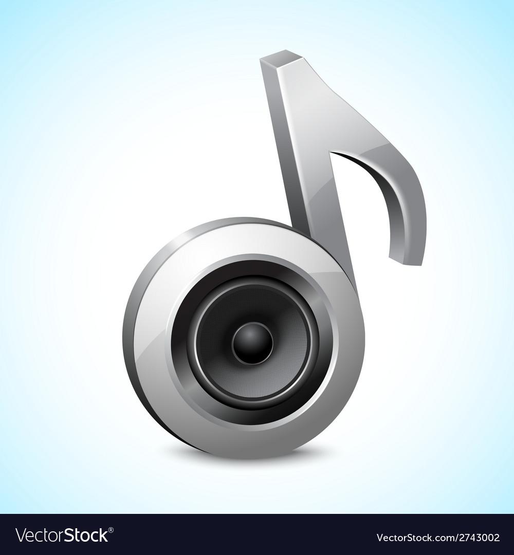 Audio speaker note vector | Price: 1 Credit (USD $1)