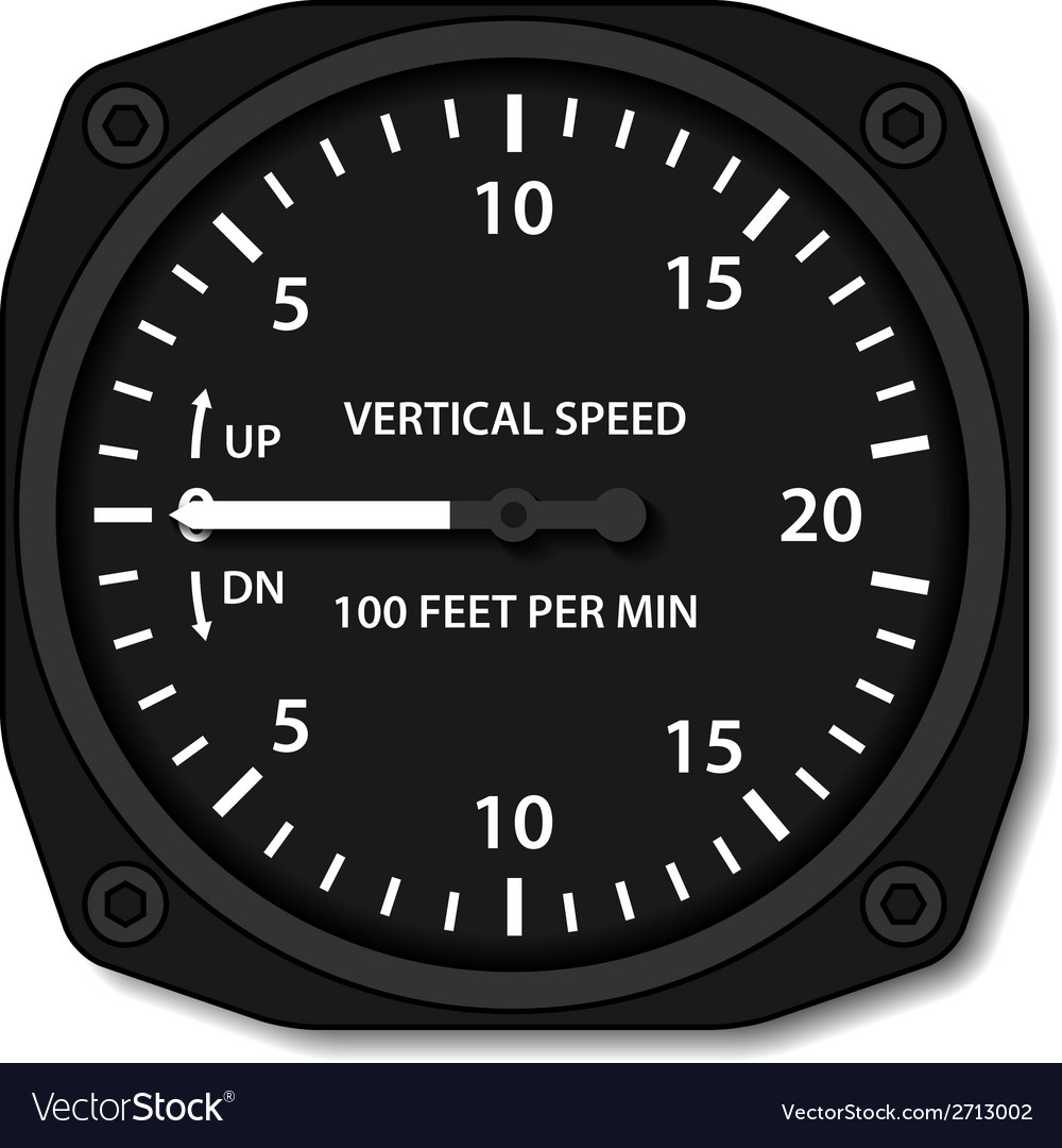 Aviation variometer vertical speed indicator vector | Price: 1 Credit (USD $1)