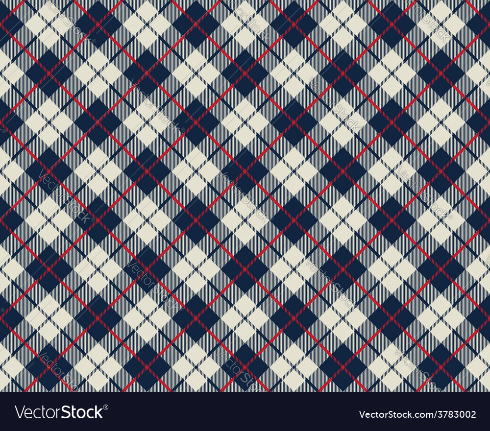 Blue and beige fabric texture diagonal pattern vector