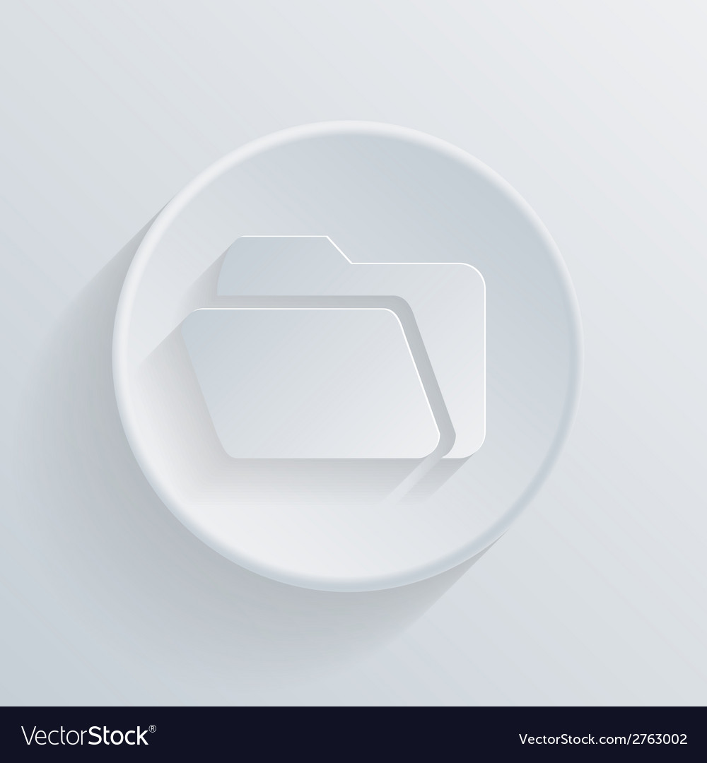 Circle icon with a shadow folder for documents vector | Price: 1 Credit (USD $1)