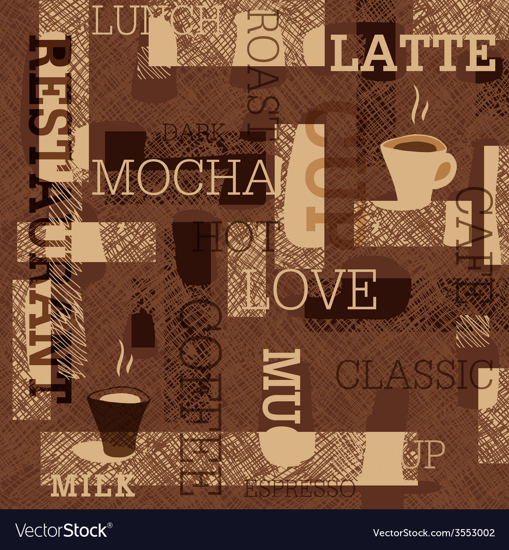 Coffee seamless background vector | Price: 1 Credit (USD $1)