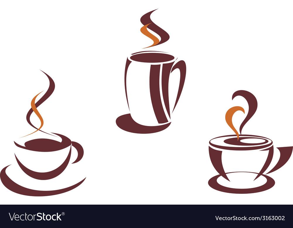 Coffee symbols and logos vector | Price: 1 Credit (USD $1)