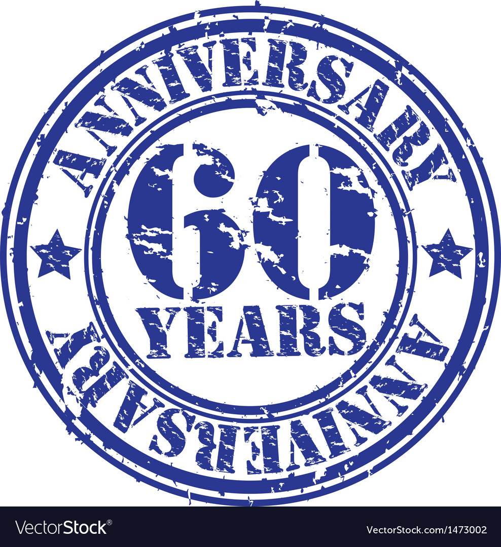 Grunge 60 years anniversary rubber stamp vector | Price: 1 Credit (USD $1)