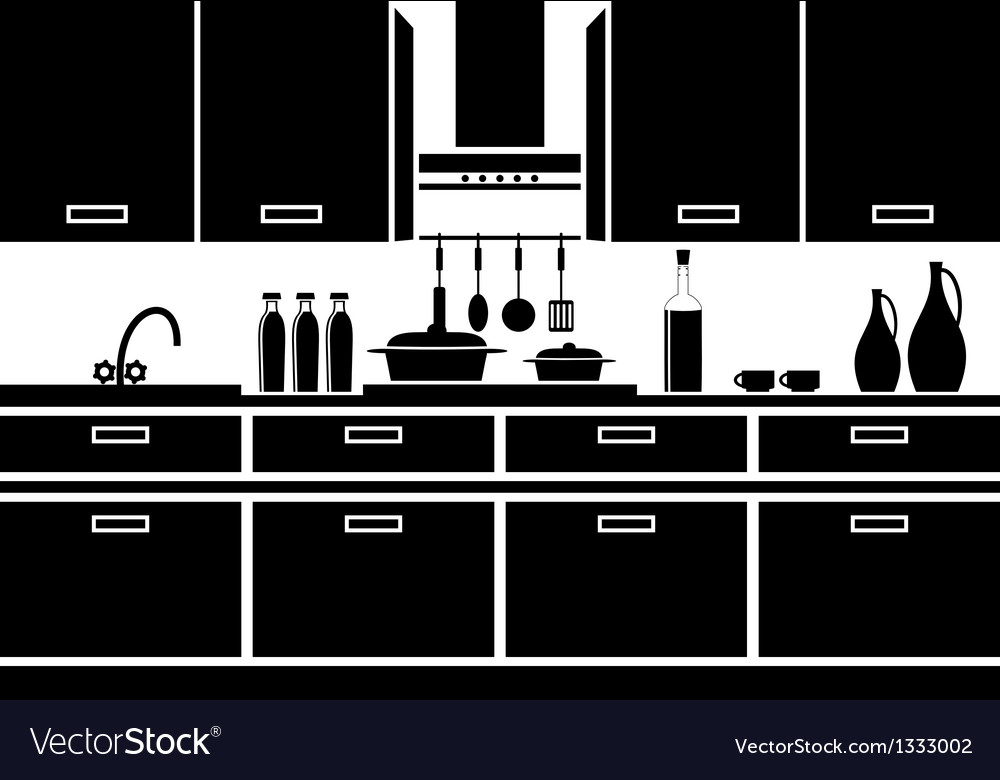 Icon of kitchen vector | Price: 1 Credit (USD $1)