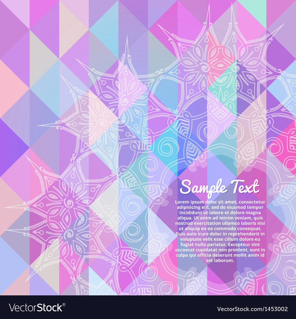Invitation card with abstract geometric background vector | Price: 1 Credit (USD $1)