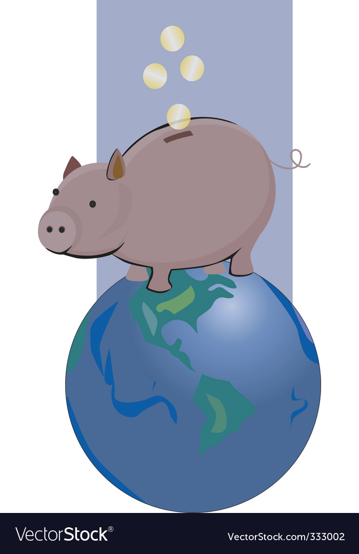 Pig bank vector | Price: 1 Credit (USD $1)