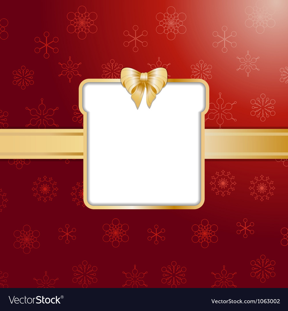 Red christmas present background and border vector | Price: 1 Credit (USD $1)