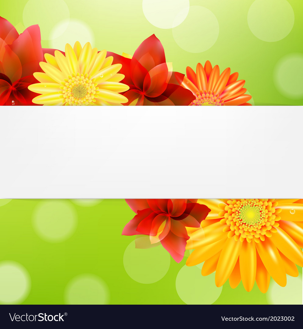 Red flowers card vector | Price: 1 Credit (USD $1)