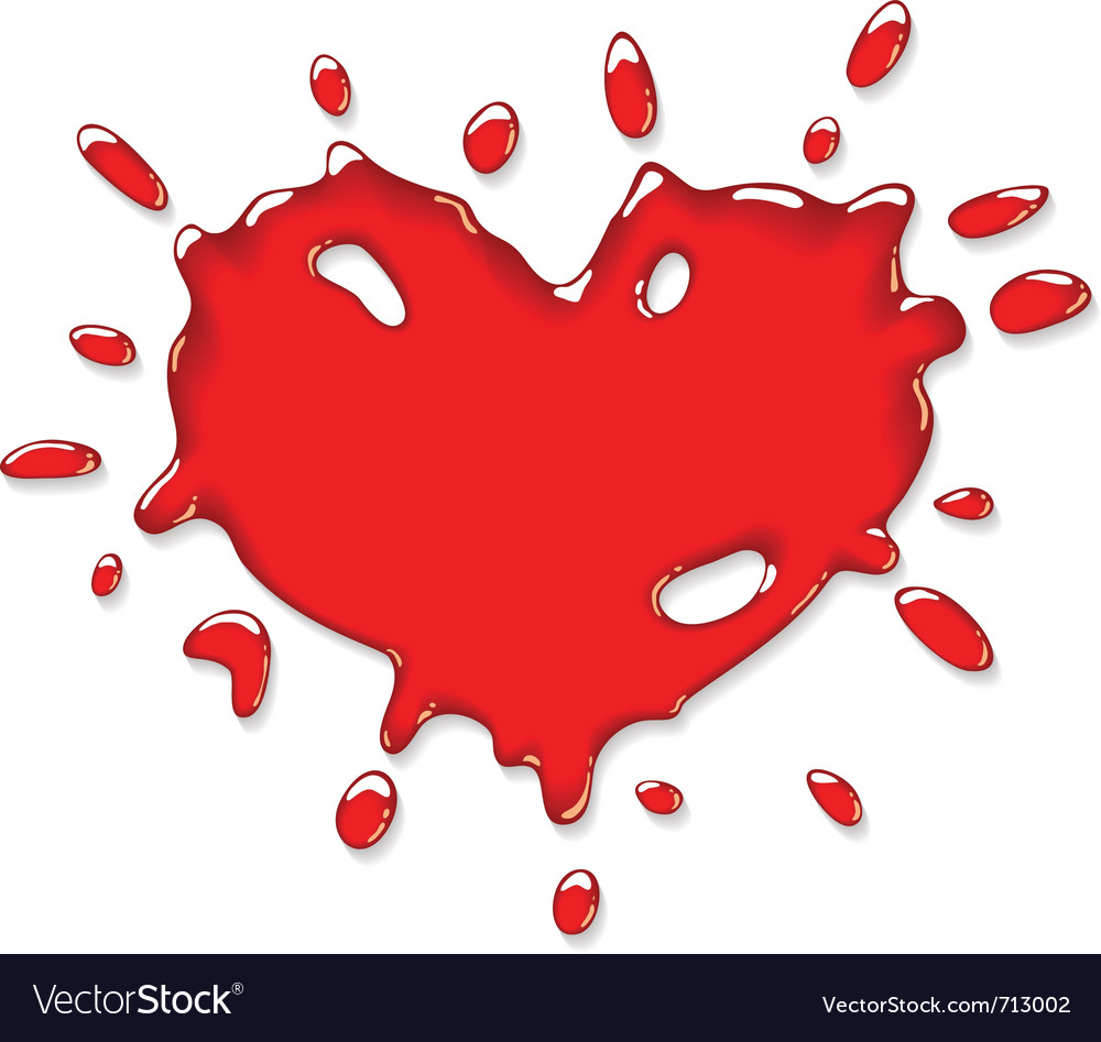 Red heart splash vector | Price: 1 Credit (USD $1)