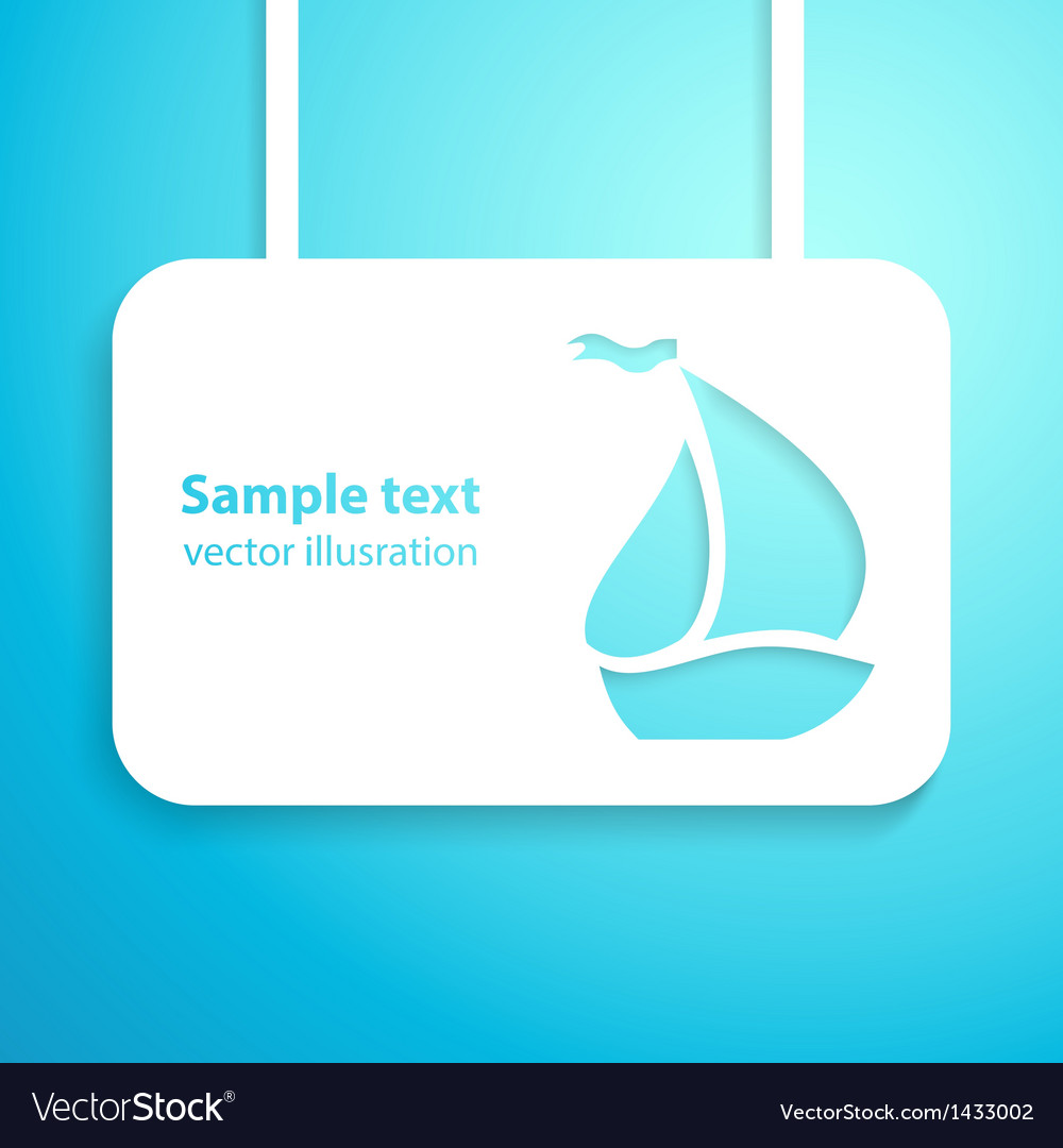 Sail boat applique background vector | Price: 1 Credit (USD $1)