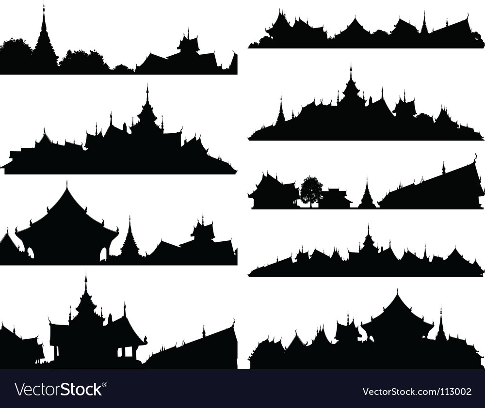 Temple foregrounds vector | Price: 1 Credit (USD $1)
