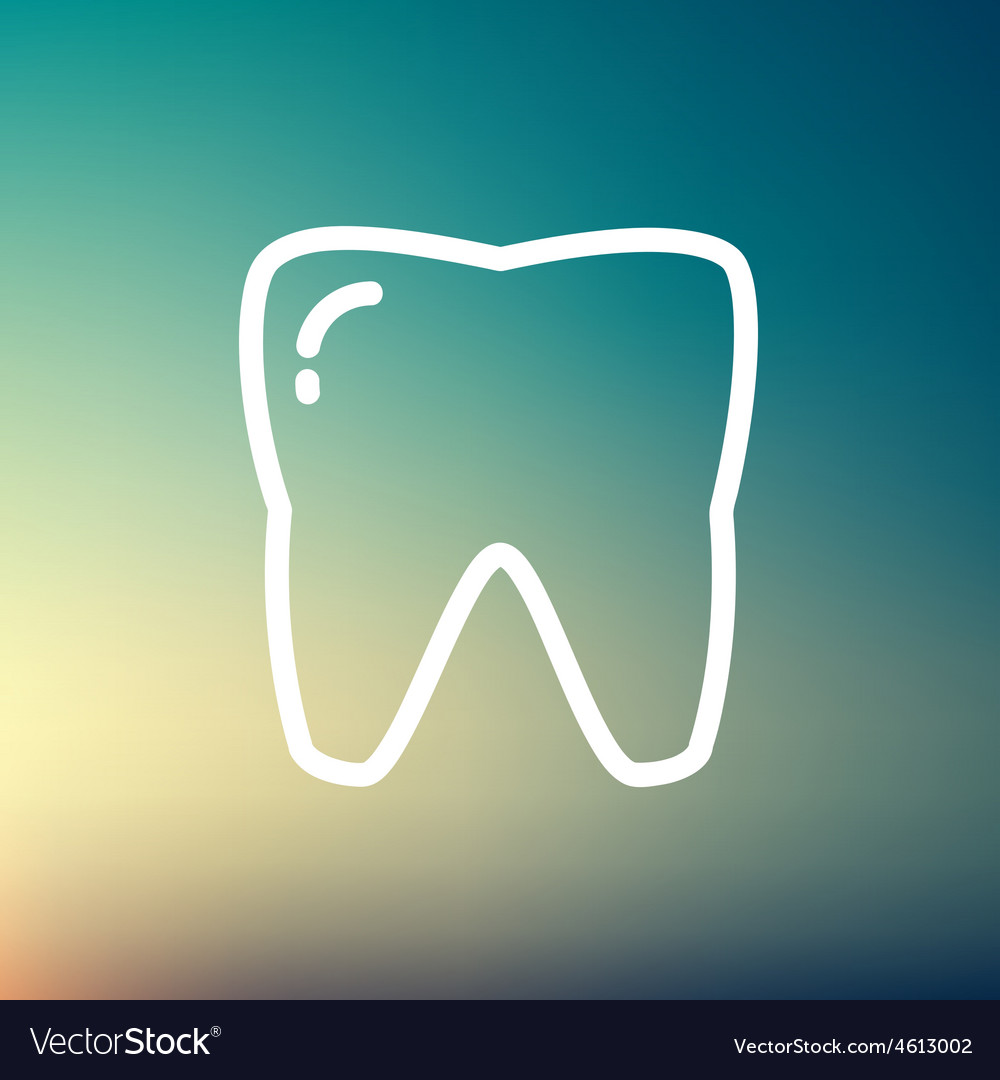 Tooth thin line icon vector | Price: 1 Credit (USD $1)