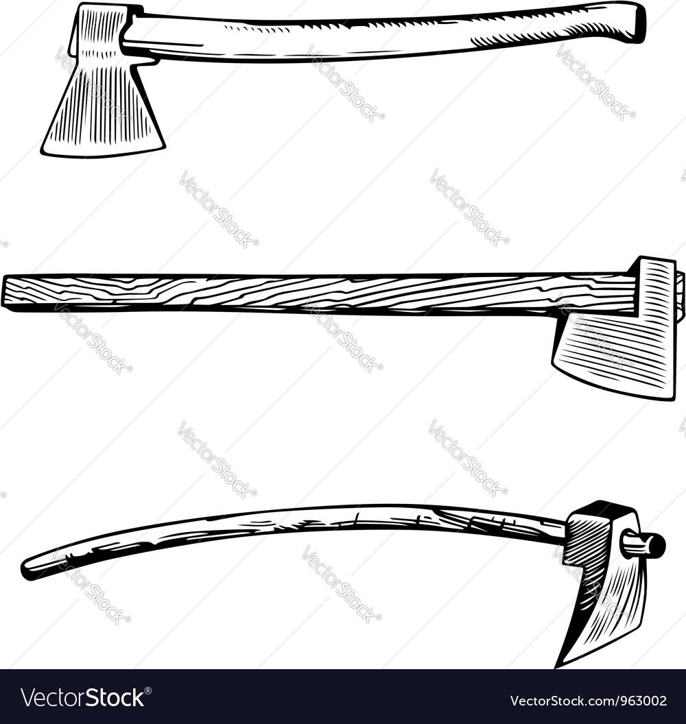 Vintage axe vector | Price: 1 Credit (USD $1)