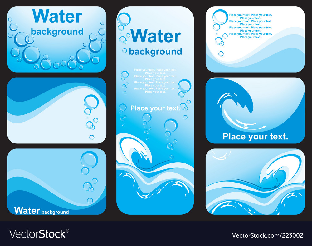 Water background image vector
