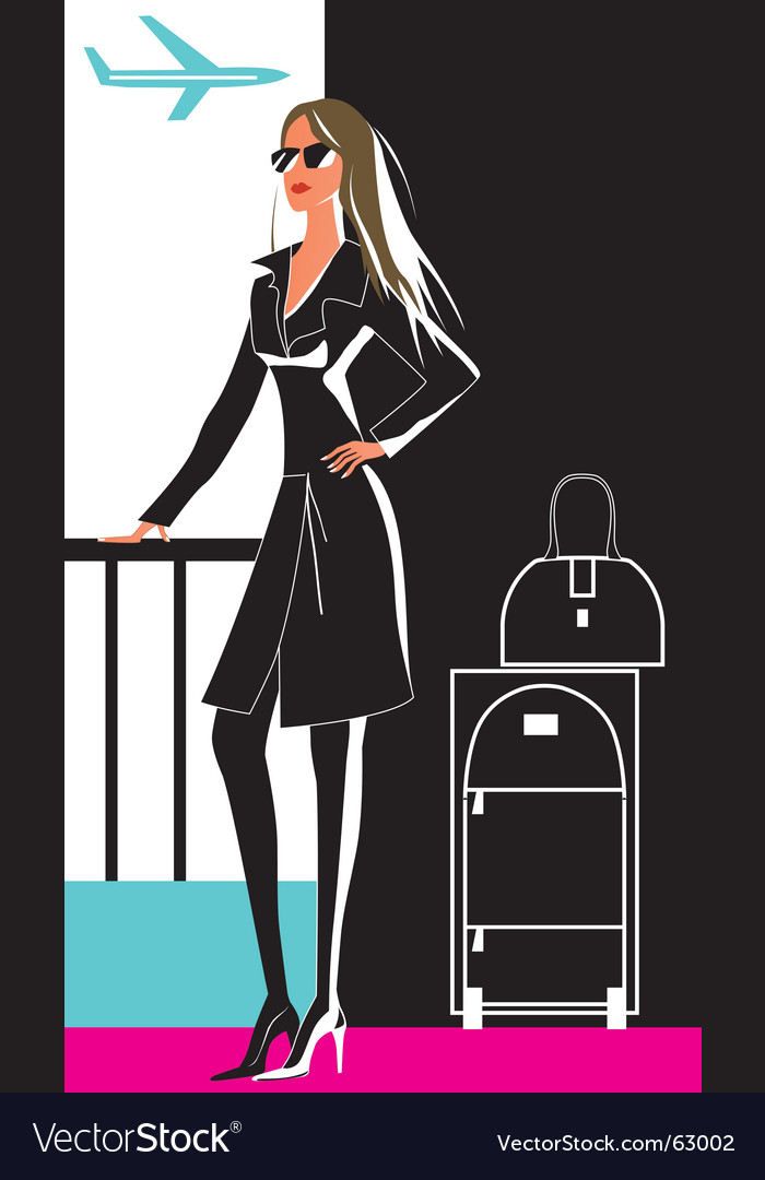 Woman in travel vector | Price: 1 Credit (USD $1)