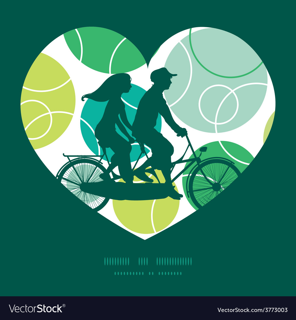 Abstract green circles couple on tandem vector | Price: 1 Credit (USD $1)