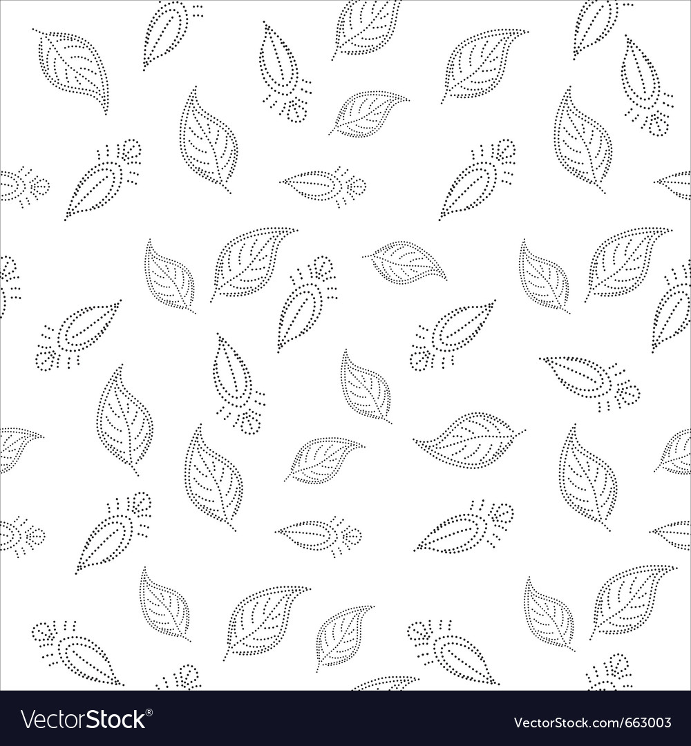 Background with leaves contours vector | Price: 1 Credit (USD $1)