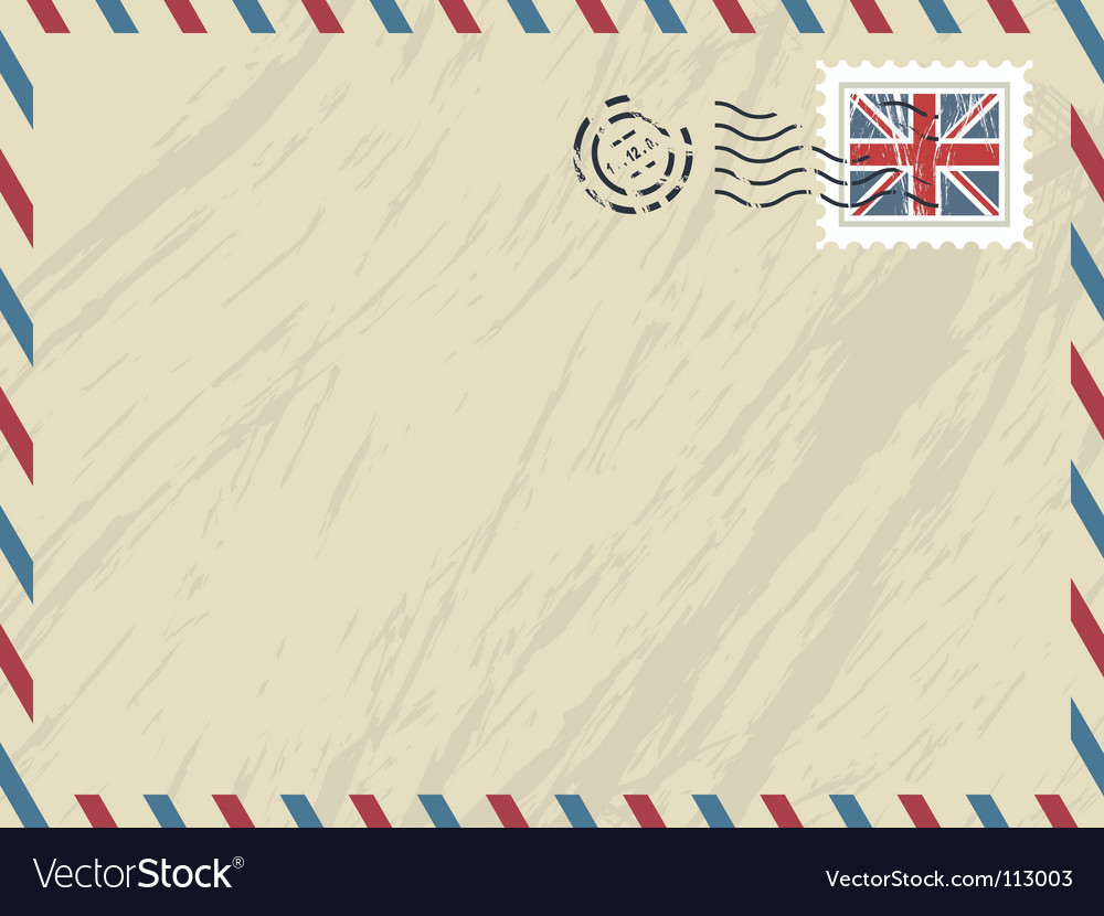 British airmail envelope vector | Price: 1 Credit (USD $1)