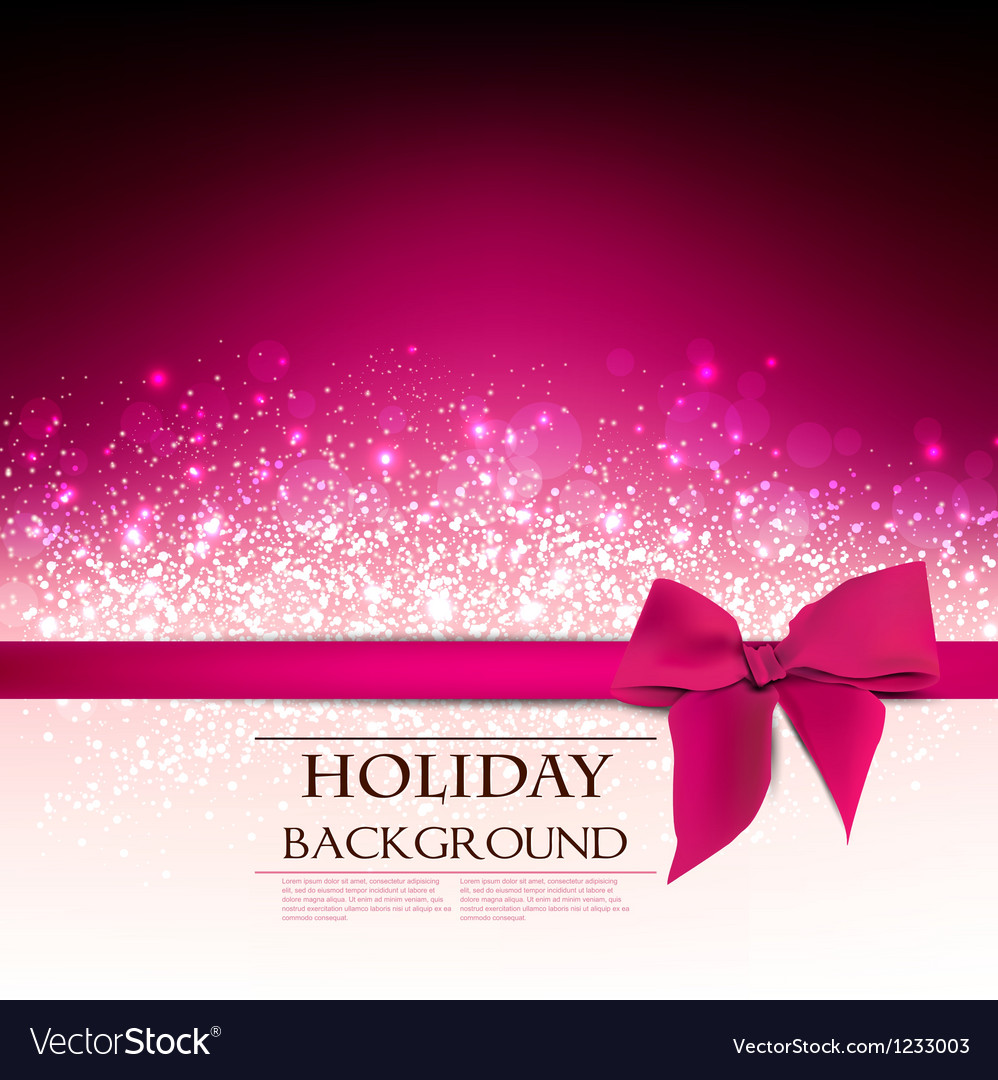 Elegant holiday red background with bow and place vector | Price: 1 Credit (USD $1)