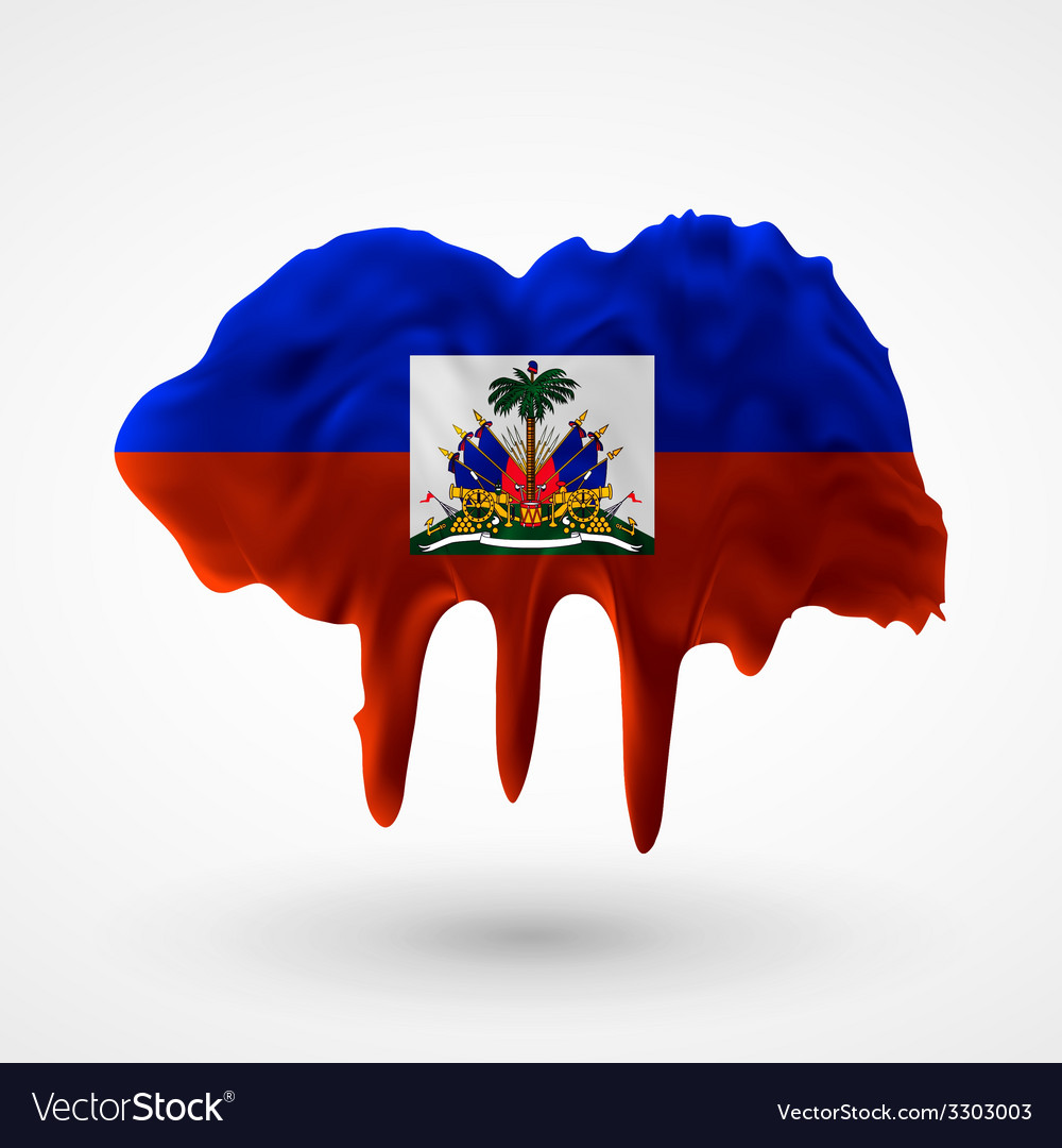 Flag of haiti painted colors vector | Price: 1 Credit (USD $1)