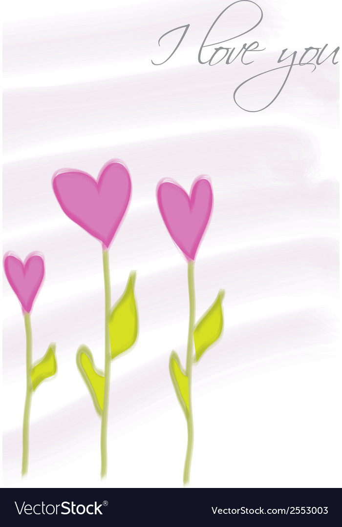 Flowers herats vector | Price: 1 Credit (USD $1)