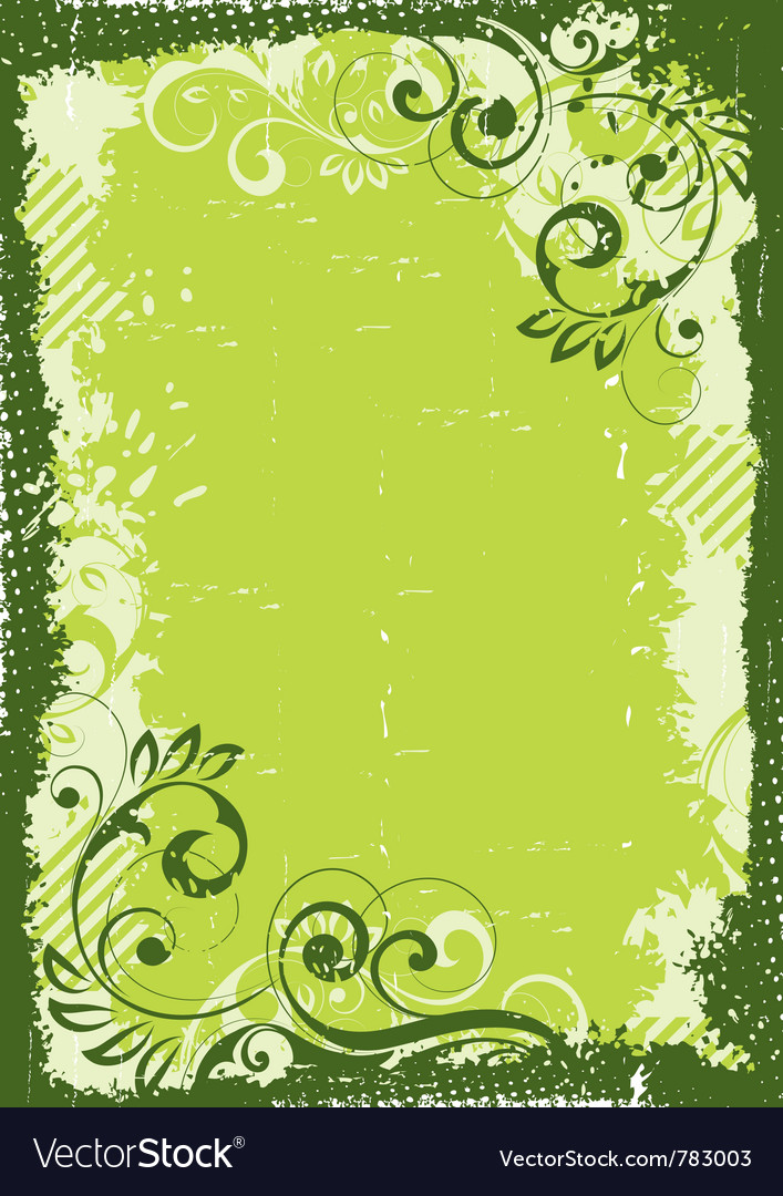 Green floral background vector | Price: 1 Credit (USD $1)