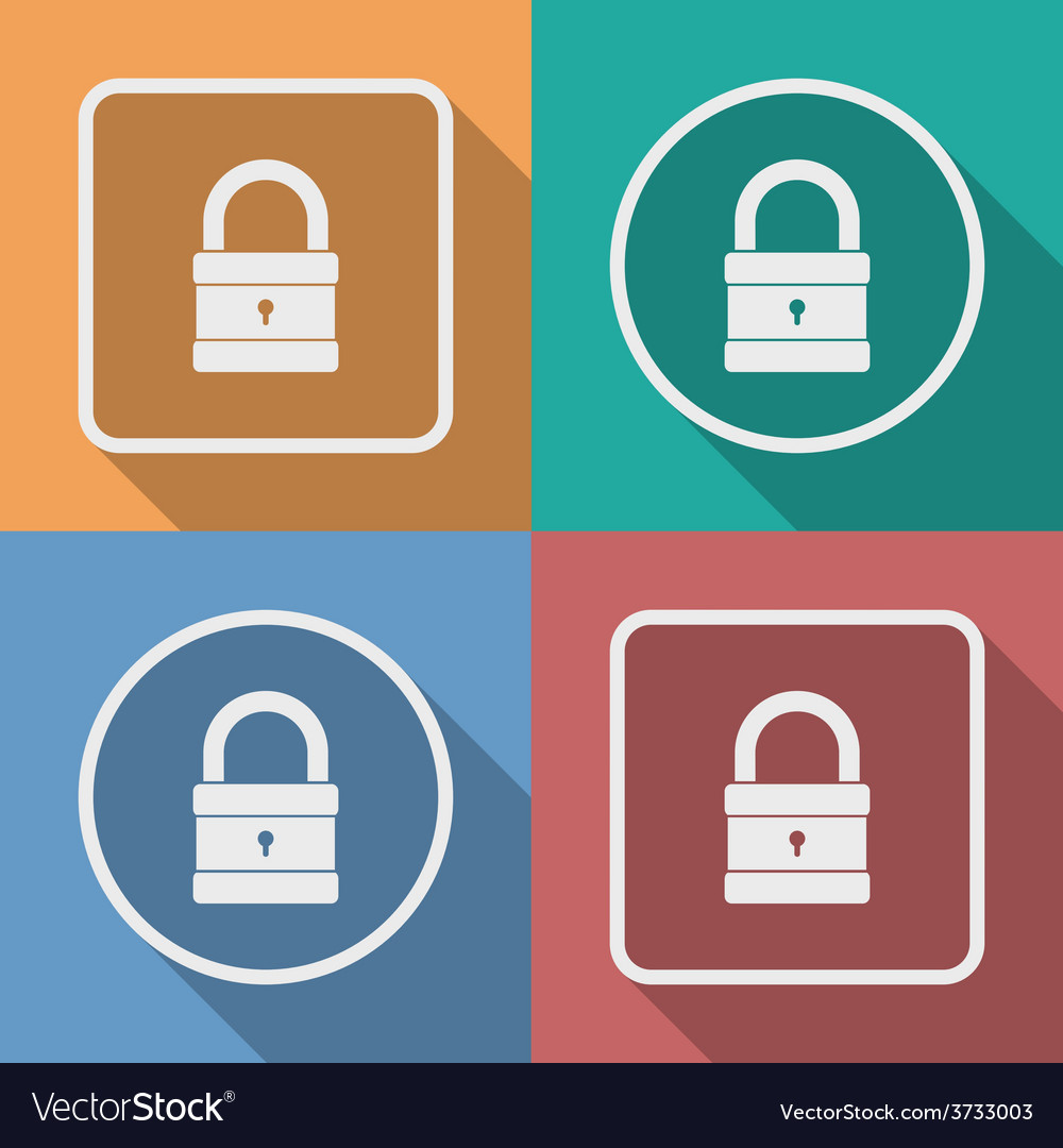 Icon of padlock modern trendy flat style vector | Price: 1 Credit (USD $1)