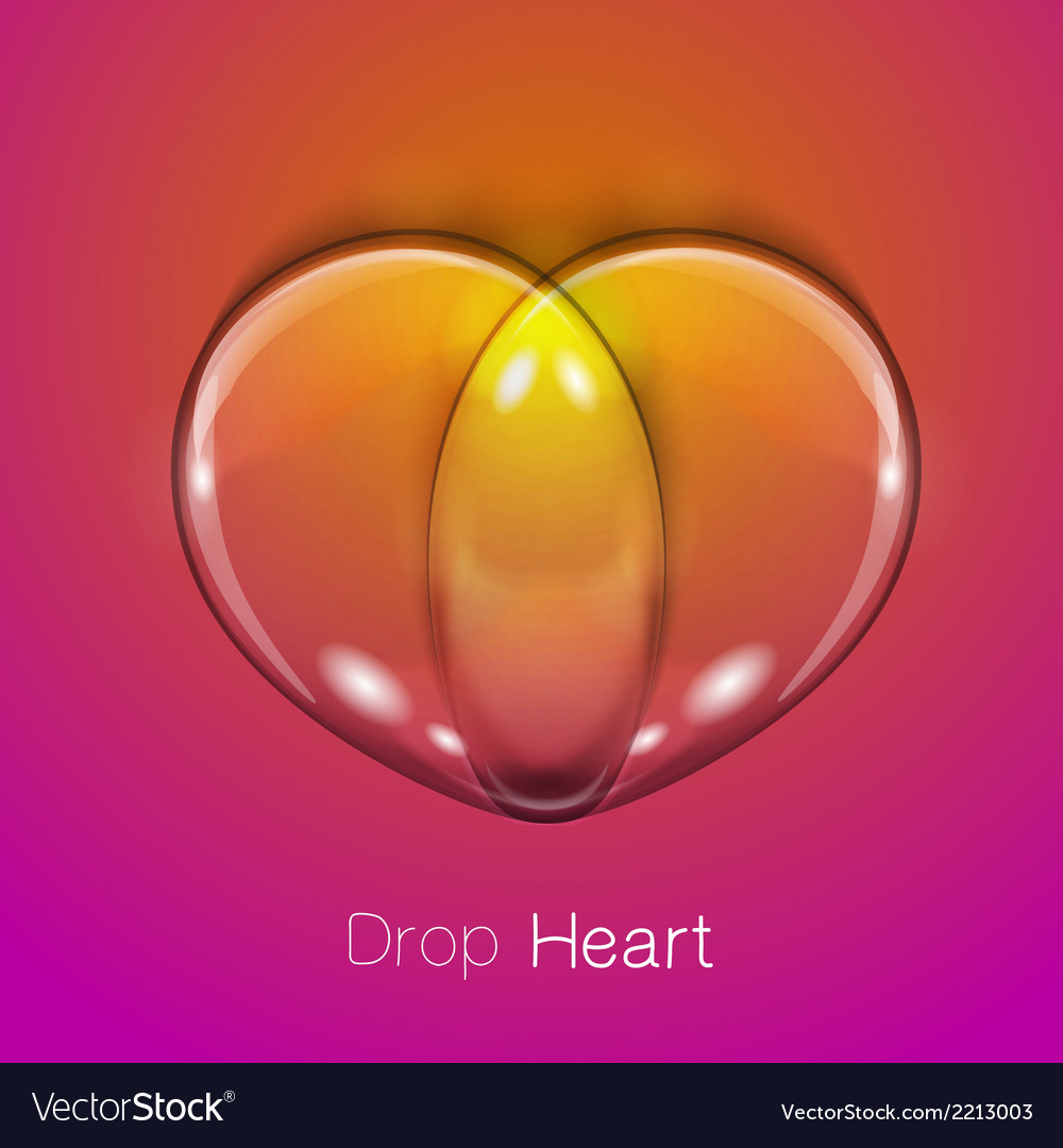 Liquid transparent heart vector | Price: 1 Credit (USD $1)