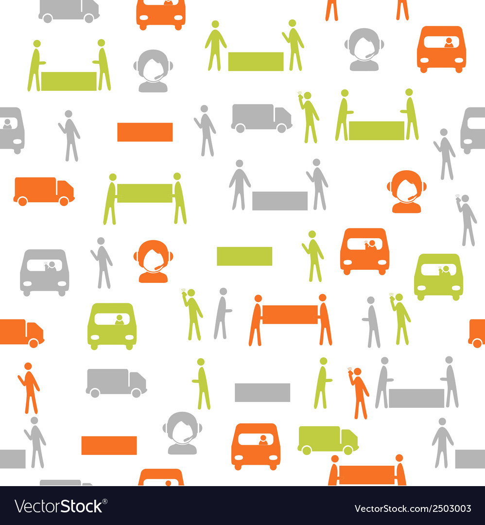 Logistics seamless pattern vector | Price: 1 Credit (USD $1)