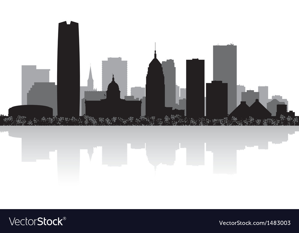 Oklahoma city usa skyline silhouette vector | Price: 1 Credit (USD $1)