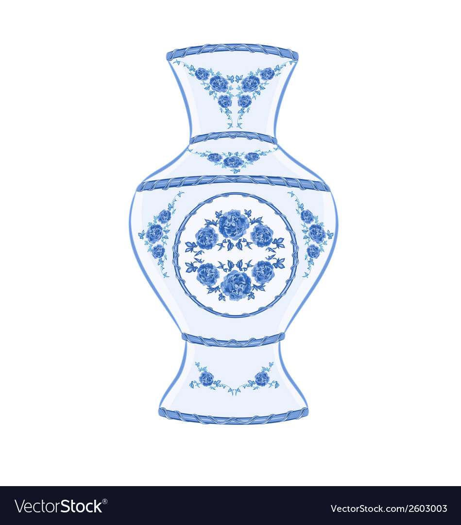 Vase faience vintage vector | Price: 1 Credit (USD $1)