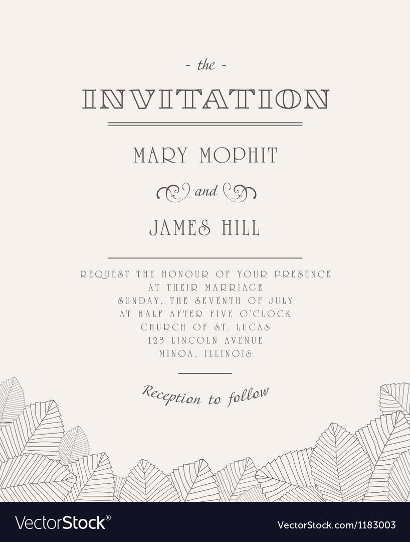 Vintage invitation vector | Price: 1 Credit (USD $1)