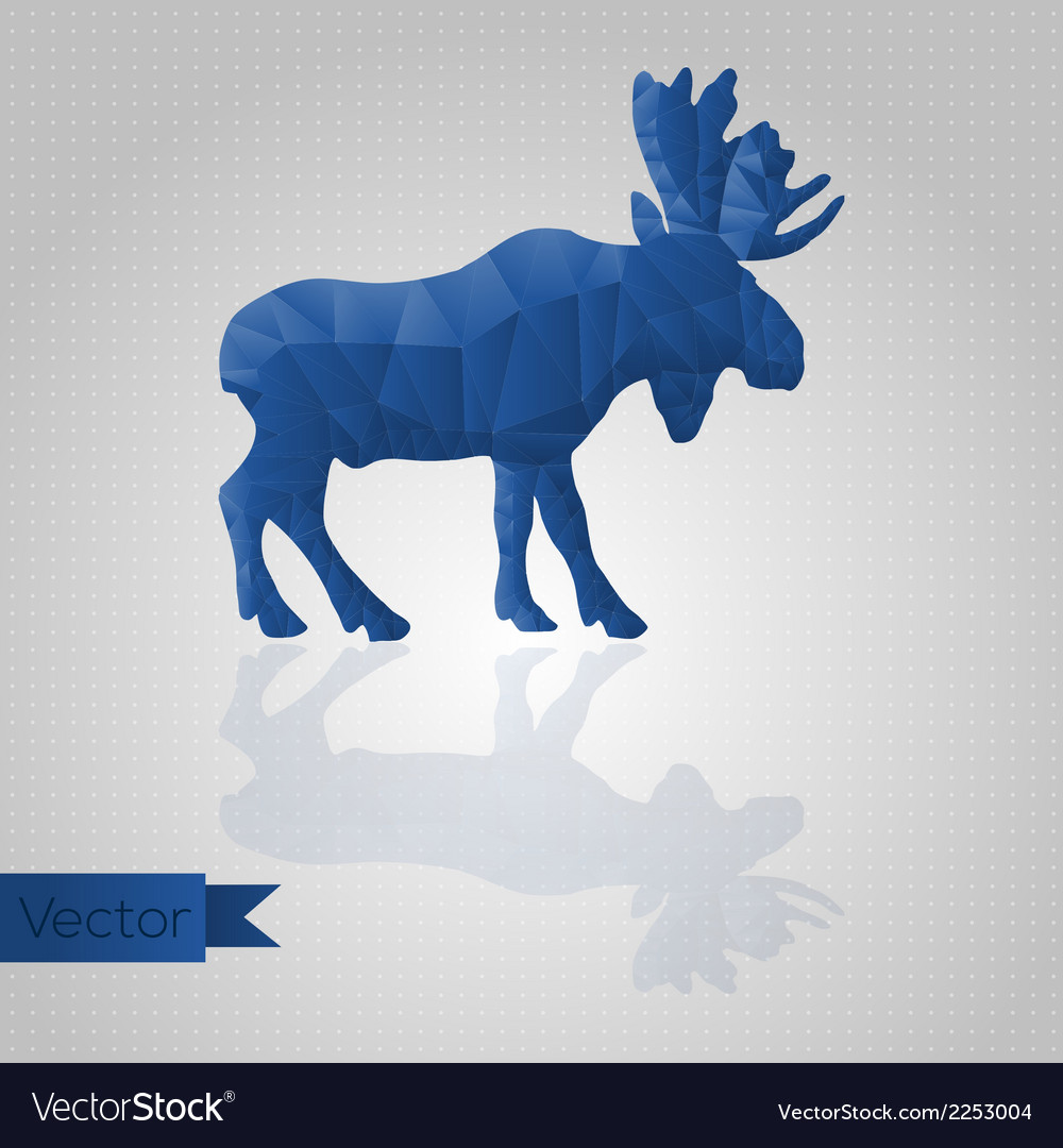 Abstract triangular moose vector | Price: 1 Credit (USD $1)