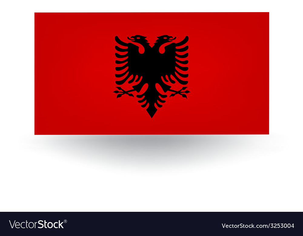 Albania flag vector | Price: 1 Credit (USD $1)