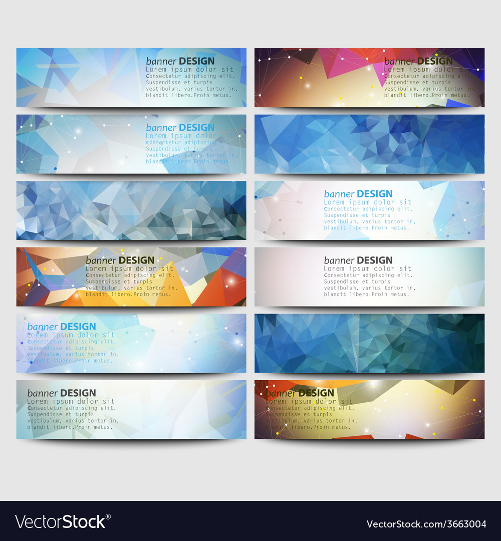 Big colored abstract banners set conceptual vector | Price: 1 Credit (USD $1)