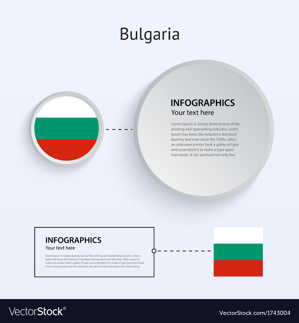 Bulgaria country set of banners vector | Price: 1 Credit (USD $1)