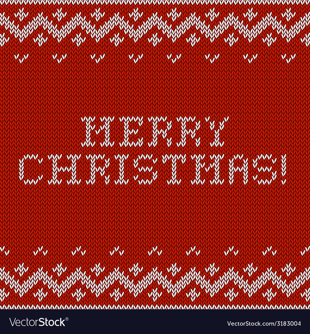 Card of merry christmas 2015 with knitted texture vector | Price: 1 Credit (USD $1)