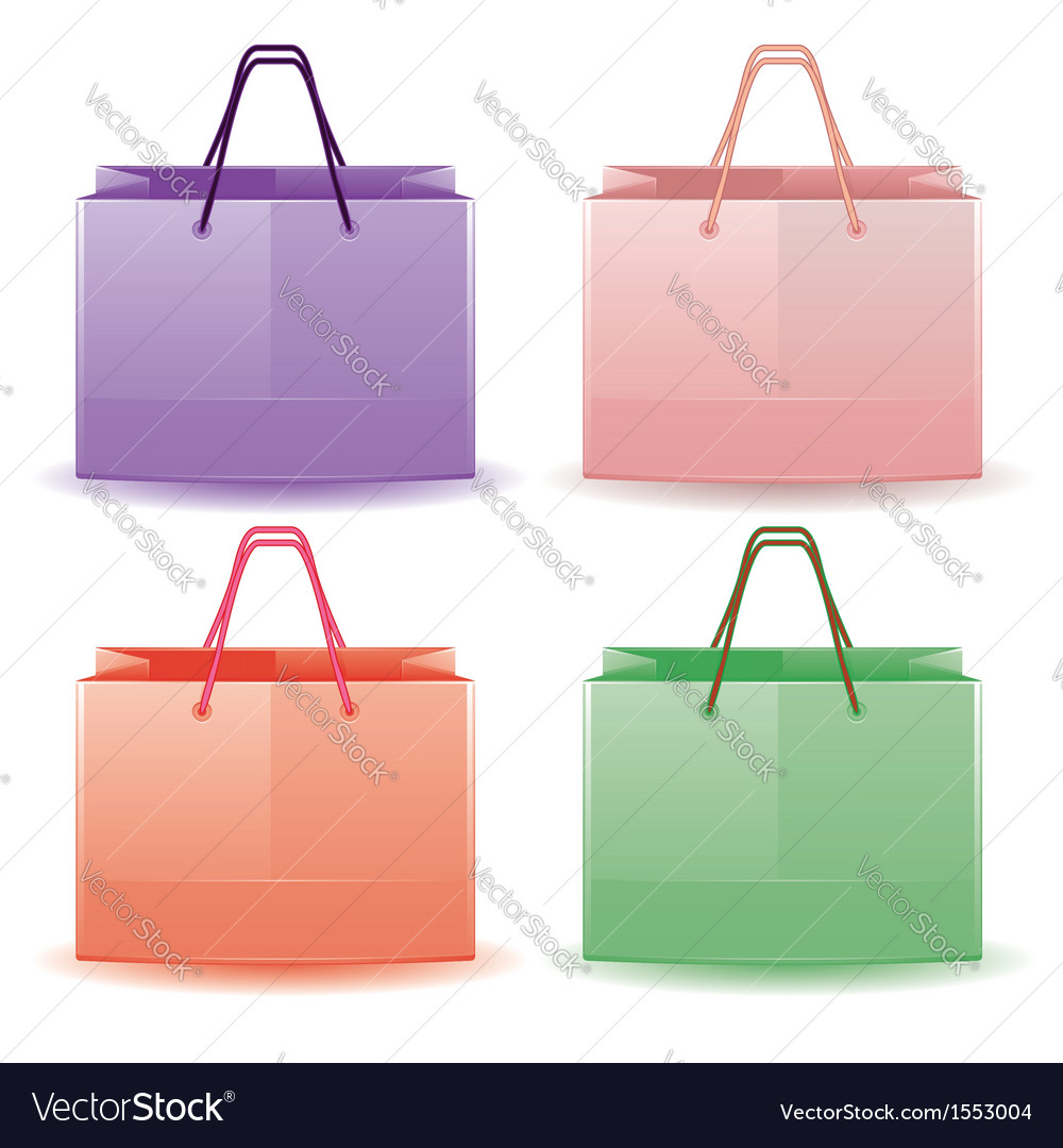 Colorful shopping bags vector | Price: 1 Credit (USD $1)