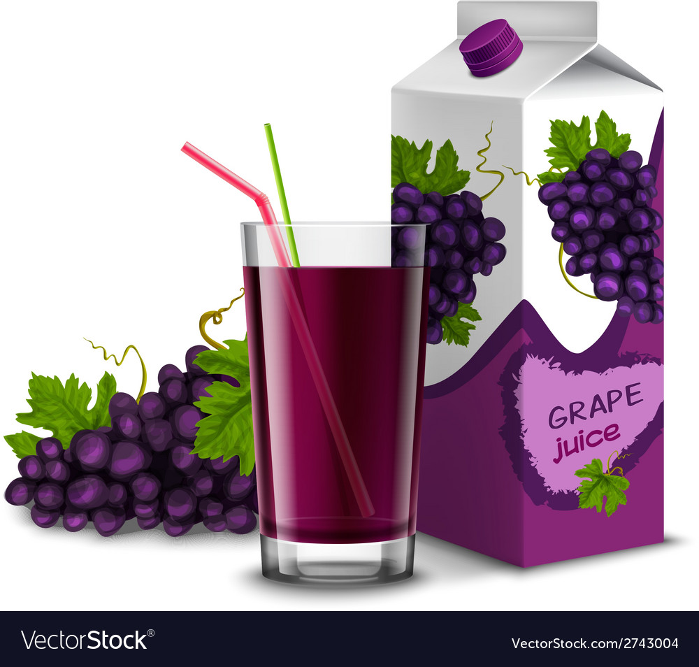 Grape juice set vector | Price: 1 Credit (USD $1)