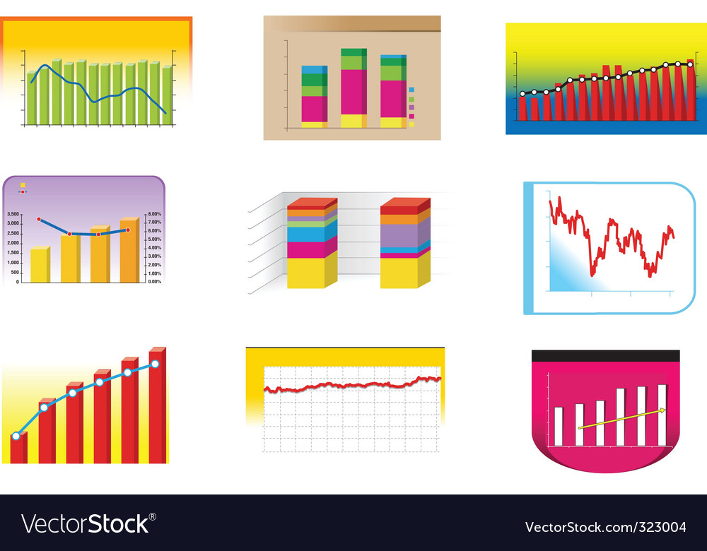 Graph collection vector | Price: 3 Credit (USD $3)