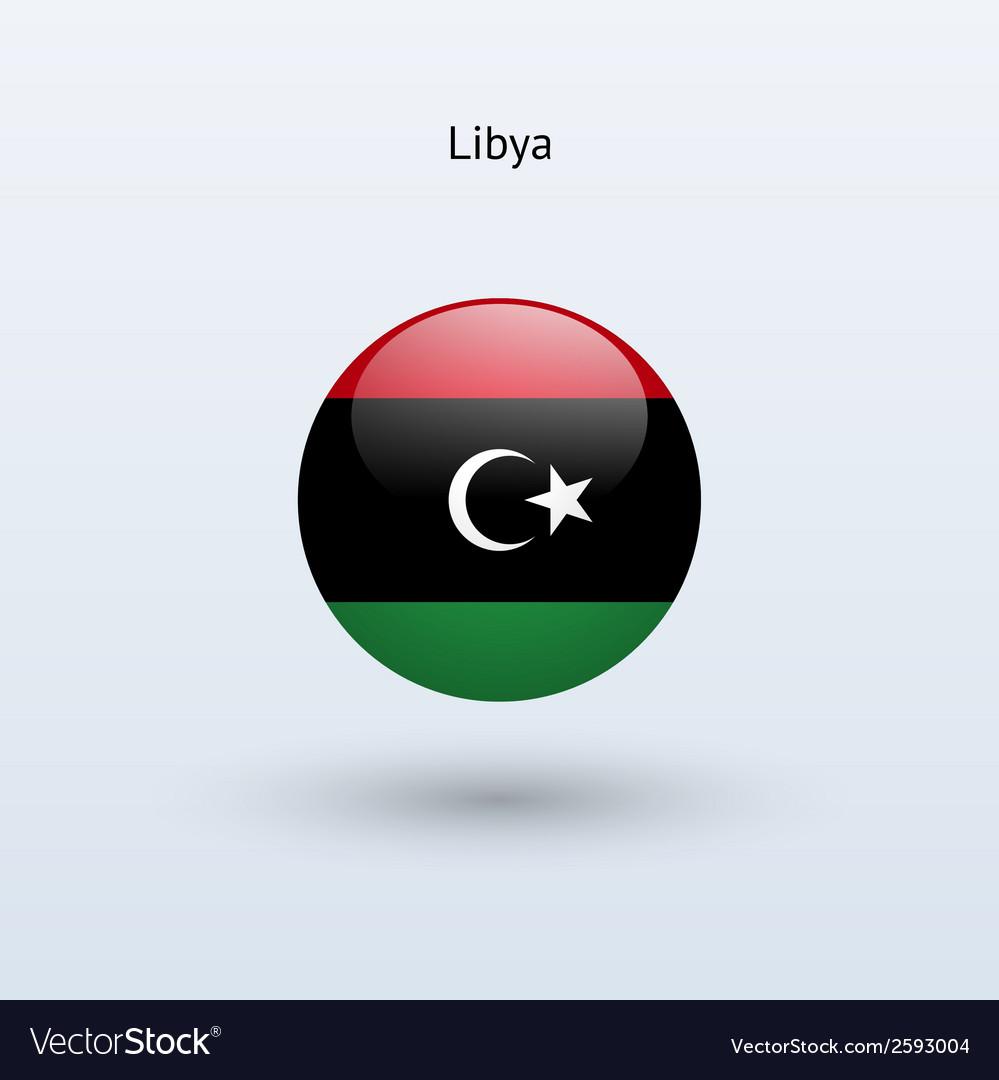 Libya round flag vector | Price: 1 Credit (USD $1)