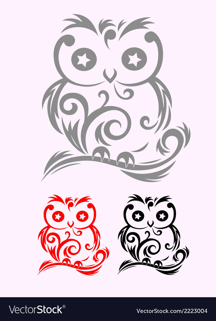 Owl decor vector | Price: 1 Credit (USD $1)