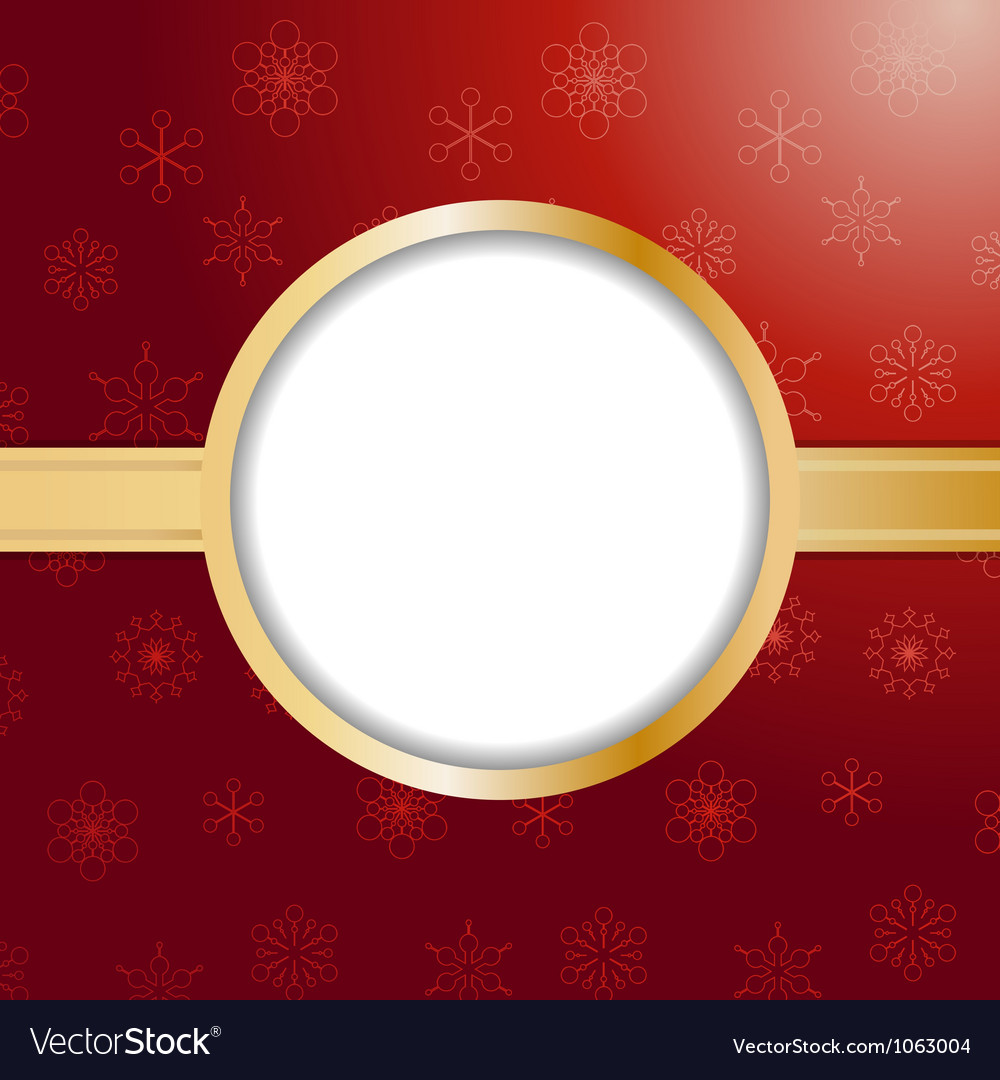 Red christmas background and border vector | Price: 1 Credit (USD $1)