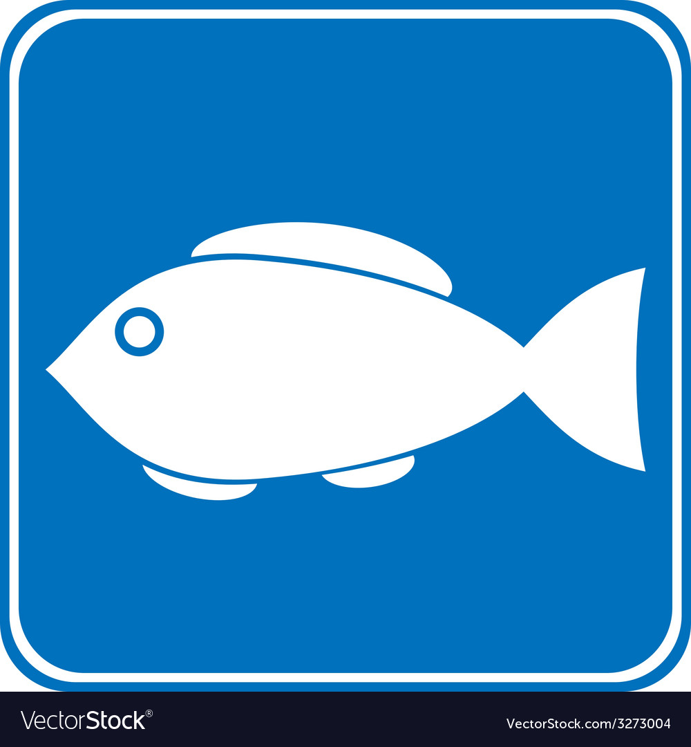 Sign of fishing allowed vector | Price: 1 Credit (USD $1)