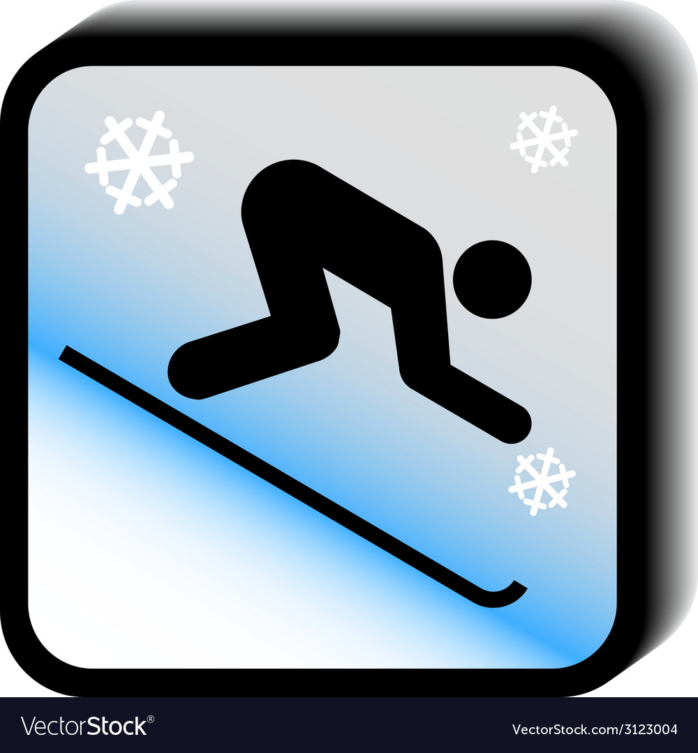 Winter icon -downhill vector | Price: 1 Credit (USD $1)